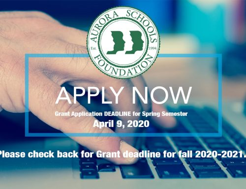 Grant Application DEADLINE for Spring 2020 Semester (Check back for fall 2020-2021)