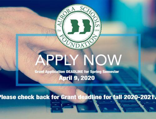 Grant Application DEADLINE for Spring 2020 Semester (Check back for fall 2020-2021)