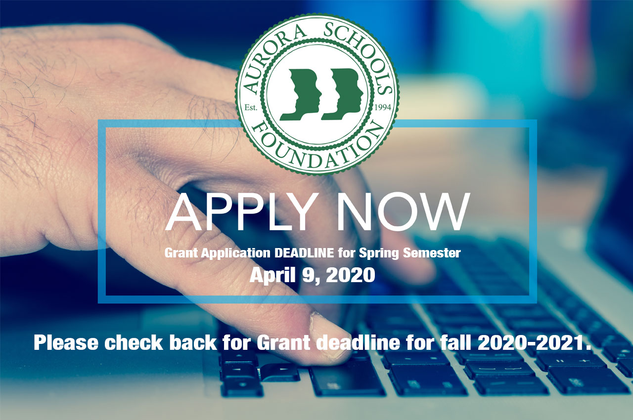 Please check back for Grant deadline for fall 2020-2021.