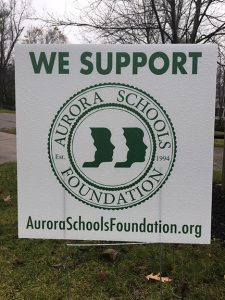 Aurora Schools Foundation yard sign