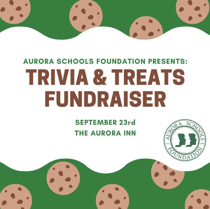 Trivia & Treats Fundraiser on September 23, 2021 at the Aurora Inn!